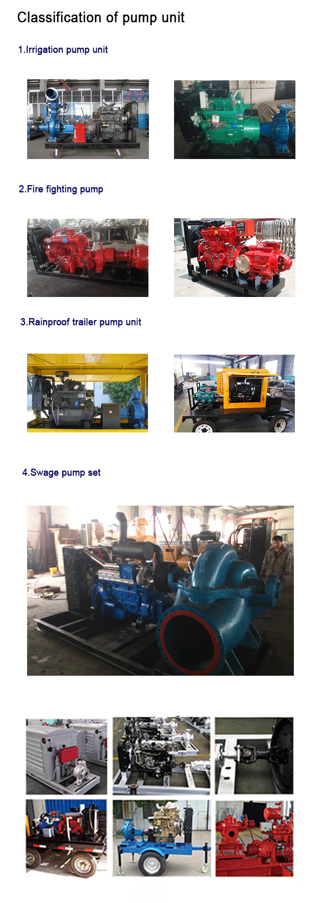 Movable Water Cooled Diesel Powered Water Pump With Two Wheels OEM