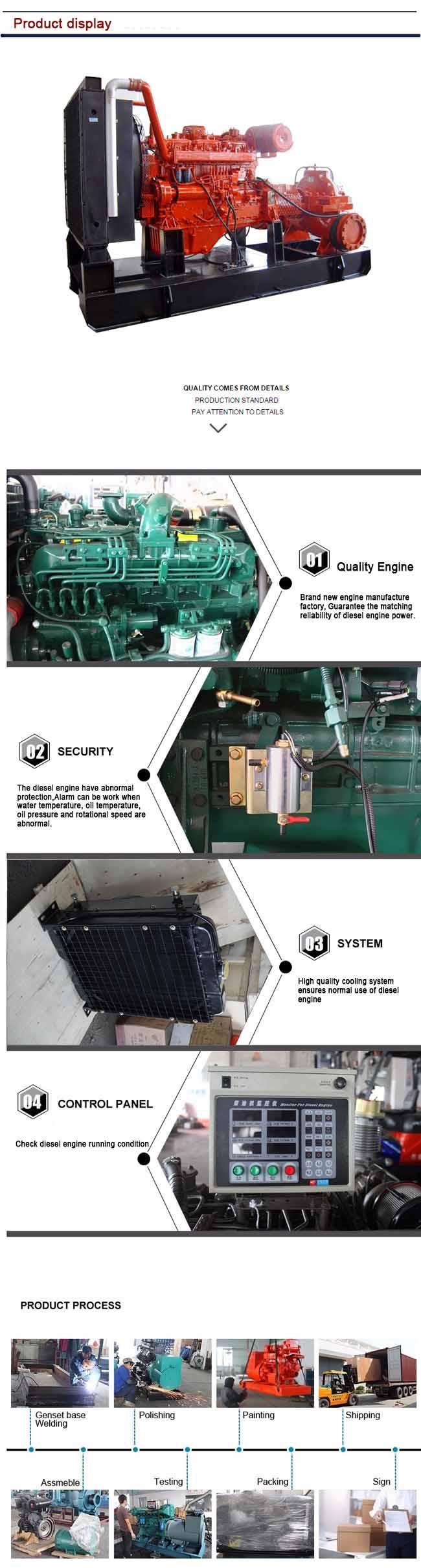 Centrifugal Diesel Engine Water Pump 45kw Engine Electrical Starting Method