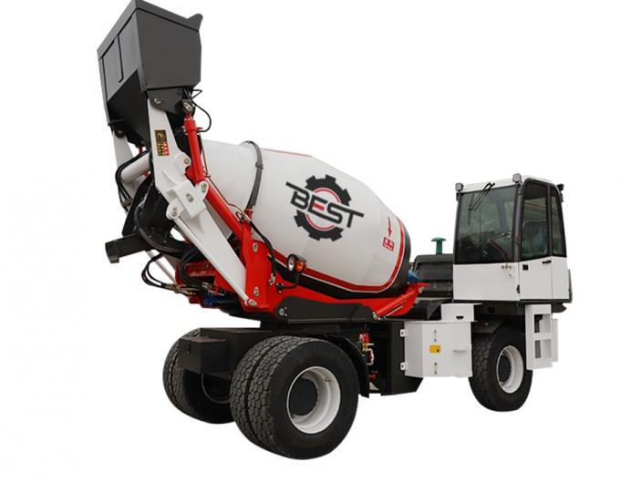 4 cubic meters self loading concrete mixer for truck