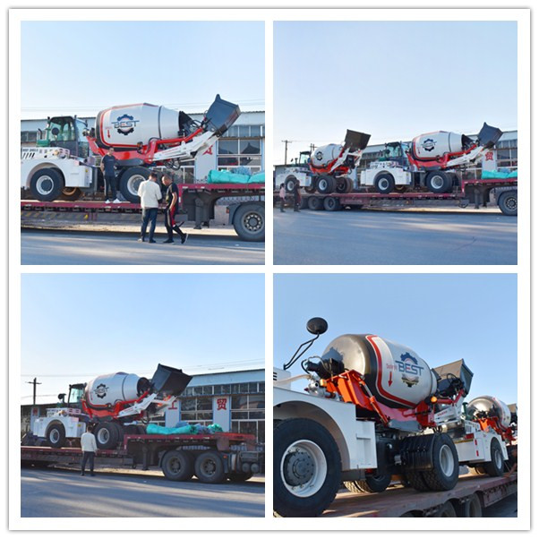 4.5 Cubic Bidirectional Cab Mobile Mixer Truck With Car Water Priming Pump