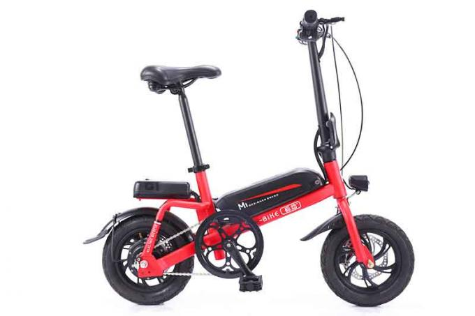 250-350w Power Small Lithium Electric Bike With Aluminum Alloy Saddle Tube