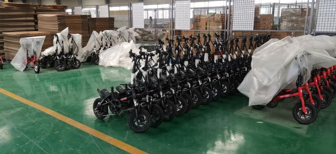Dual Motors 48v 350W Folding E Bike Two Wheel Powerful Scooter With Seat