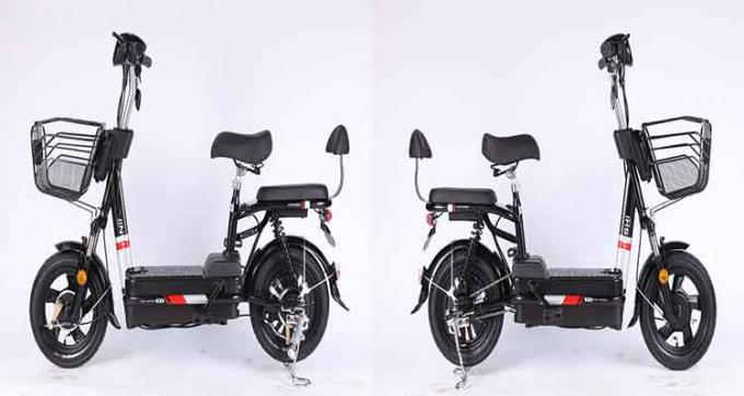 350 Watt Brushless Motor Folding Electric Bicycle With 48V 12Ah Removable Battery