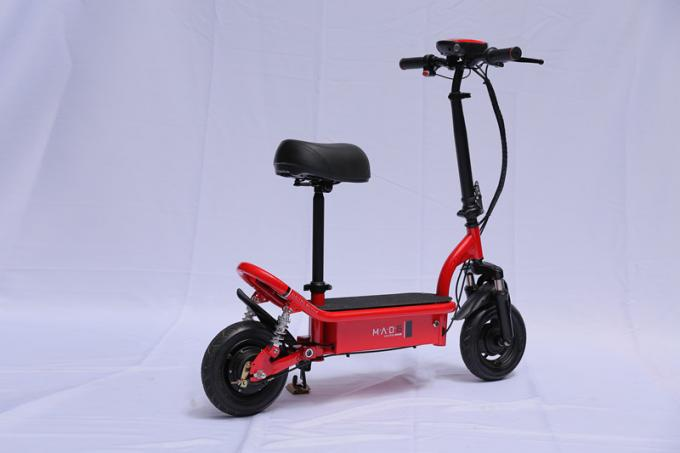 Portable Fold Up Electric Bike Mini Electric Scooter For Adults , 10 Inch Tire