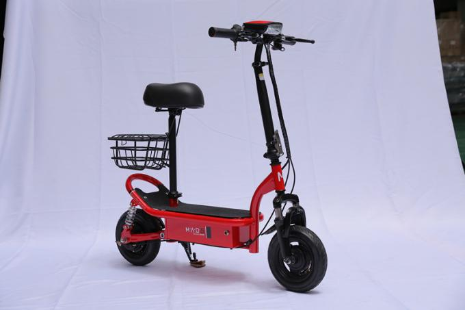 Mini Folding E Bike 10 Inch Acid Lead Battery Mobility Electric Scooter With Basket