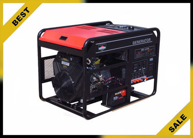 China Open Frame Portable Power Generator In Red  , 6 Kw Diesel Power Generator With Electric Starting supplier