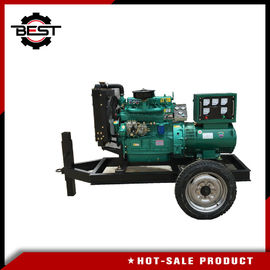 China 30kw / 37.5Kva 4 Cylinders Silent Diesel Generator Set / Movable Trailer Mounted Generator supplier