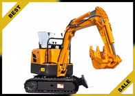 China 800kg Crawler Hydraulic Excavator 340mm Bucket Width , Road Digging Machine For Farm Use factory
